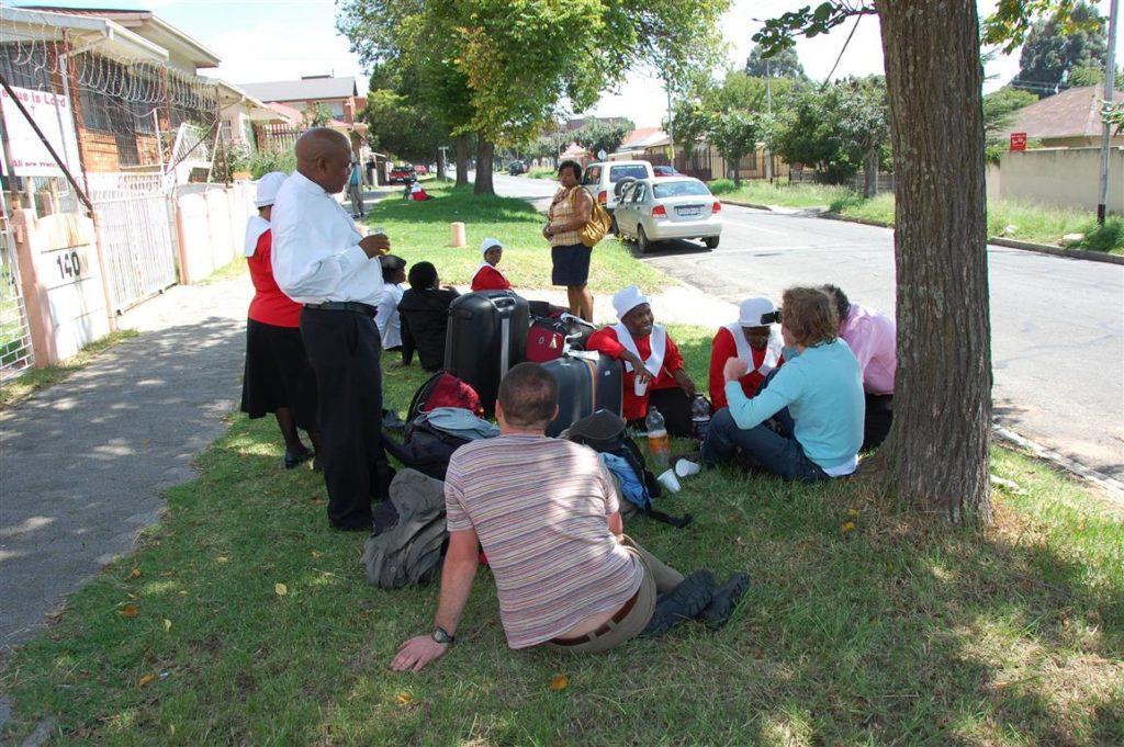 After church in Rosettenville (with Frodo, Mijke and Dirk)